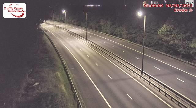 M4 eastbound between junctions 40 and 38 (Taibach and Margam)